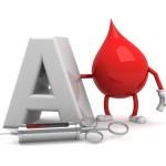 Type A blood drop