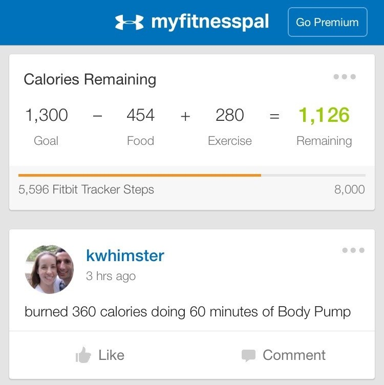 My Fitness Pal home