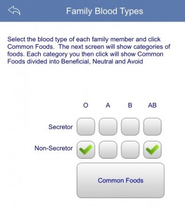 common foods for multiple blood types!