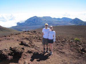 Healthy travel hiking