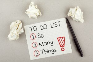 """To do list with itemized list spelling out """"So, Many, Things!"""""""